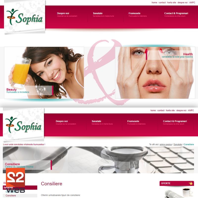Creare site prezentare cabinet Sophia - Medical