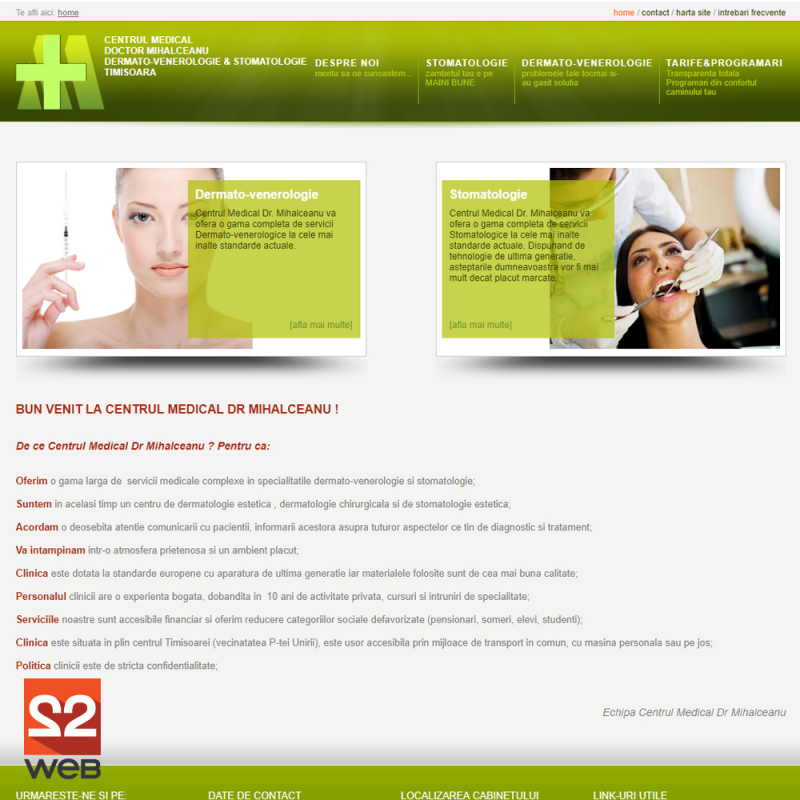 Creare site prezentare DR. Mihalceanu - Medical